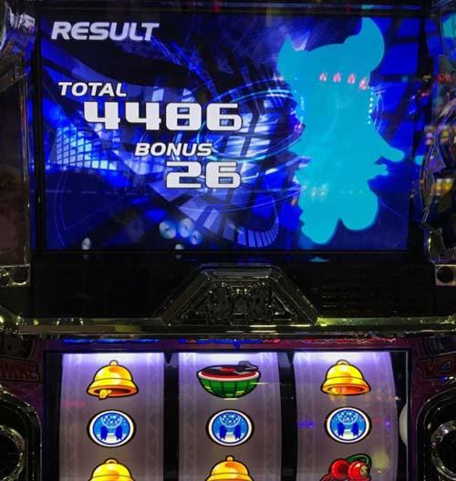 ピークタイム中の強MBからの中断チェで4468枚GET☆SHAKEⅢ画像